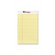 Perforated Edge Writing Pad, Jr. Legal Rule, 5 x 8, Canary, 50-Sheet