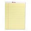 Perforated Edge Writing Pad, Legal Ruled, Letter, Canary, 50-Sheet