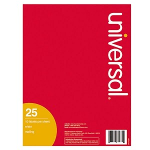 universal 2 x 4 labels 10 per page 25 pages